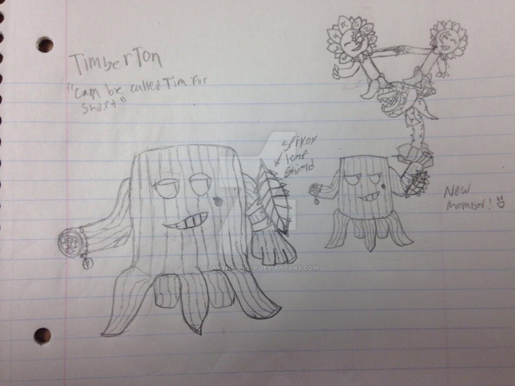 PvZ Plant Republic OC: TimberTon by StantheSpider