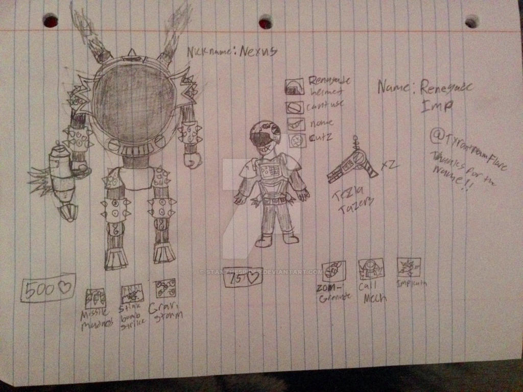 [PvZ] The Regenade Imp and Nexus (Fan Variant) by StantheSpider