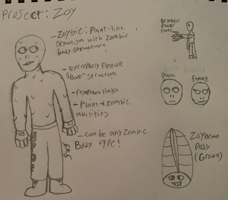 Project: Zoy (PvZ) by StantheSpider
