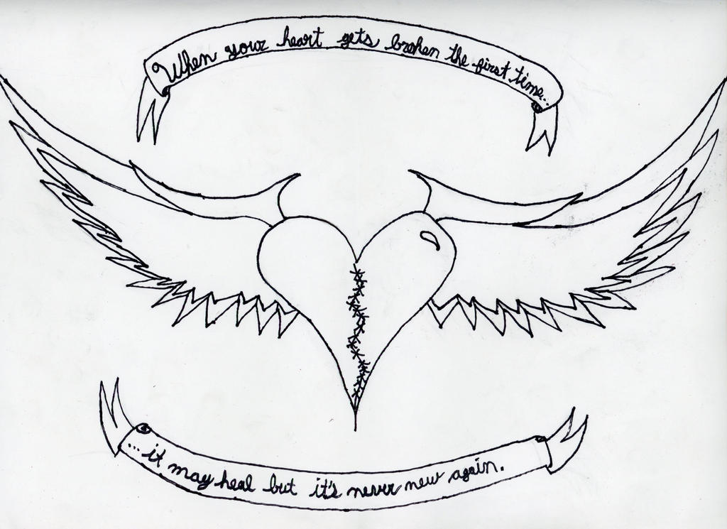 Heart with wings plus saying034 by notmysoul on DeviantArt