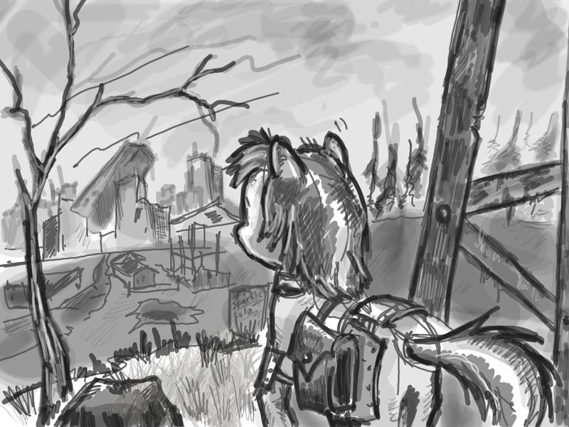 equestrian wasteland by Ulyanovetz