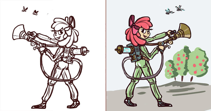 Humanized Pest Control Apple Bloom by Ulyanovetz