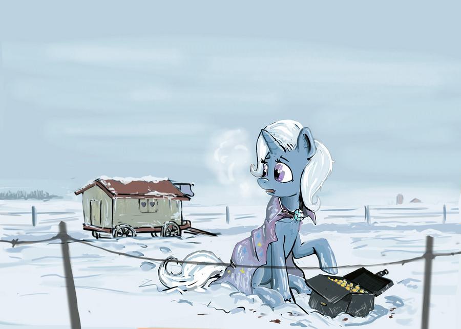 A treasure under the snow by Ulyanovetz