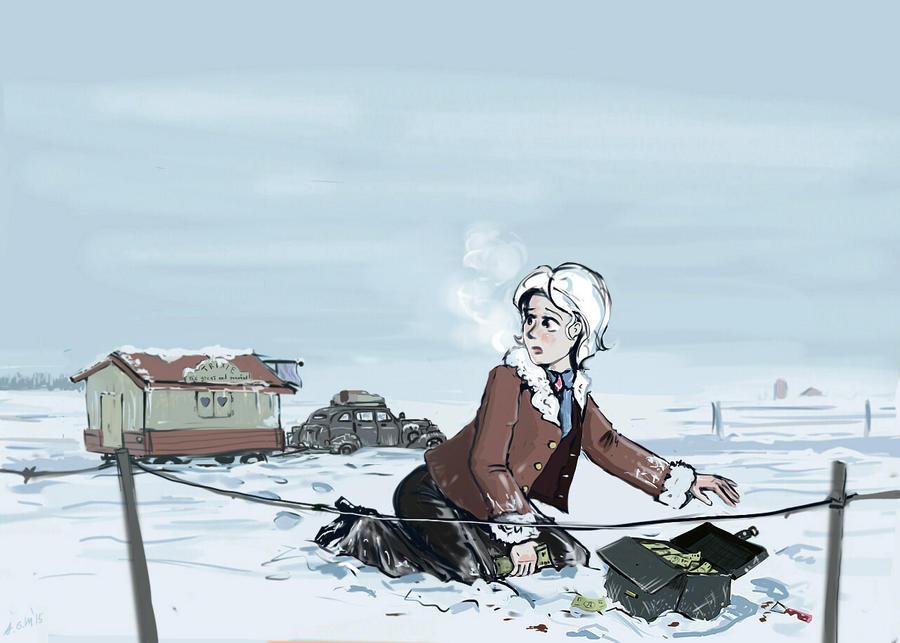 A treasure under the snow- humanized version by Ulyanovetz