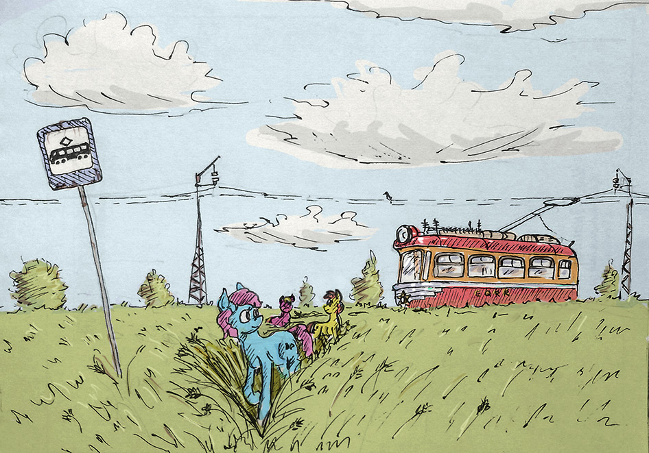 Into the fields (colored) by Ulyanovetz