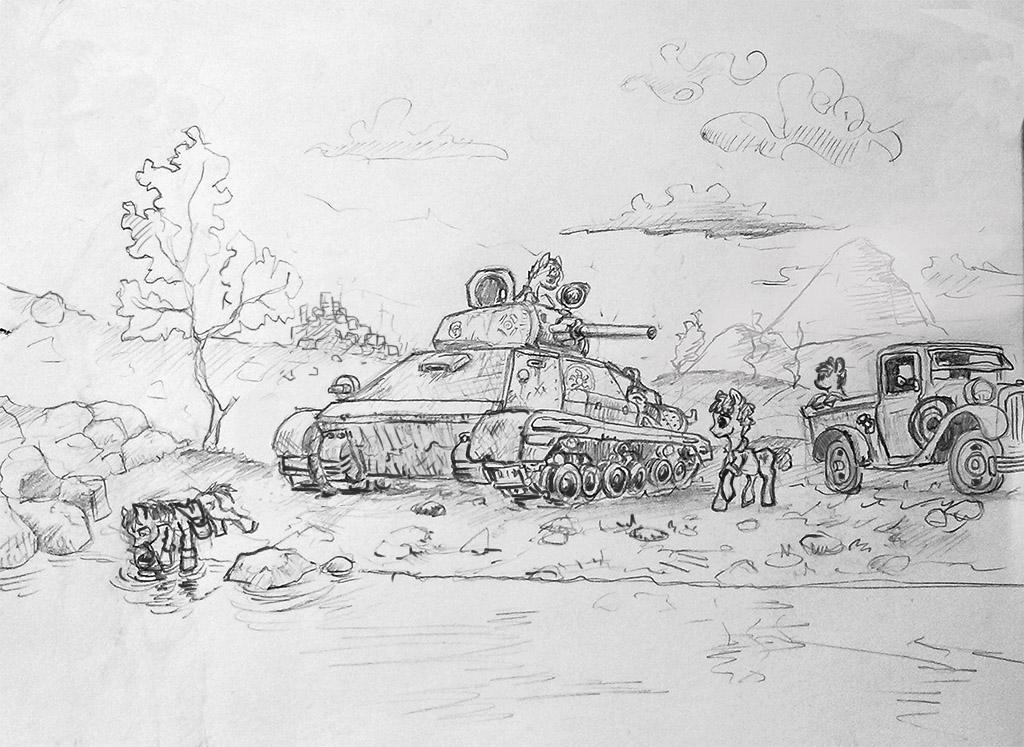 tanks and ponies again by Ulyanovetz