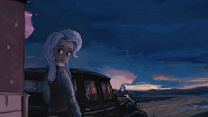 Humanized Trixie on a roadside by Ulyanovetz