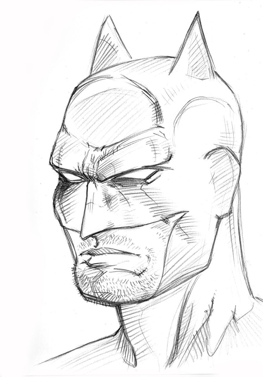 Batman Head Study 2 Pencil By Zarnoth On DeviantArt