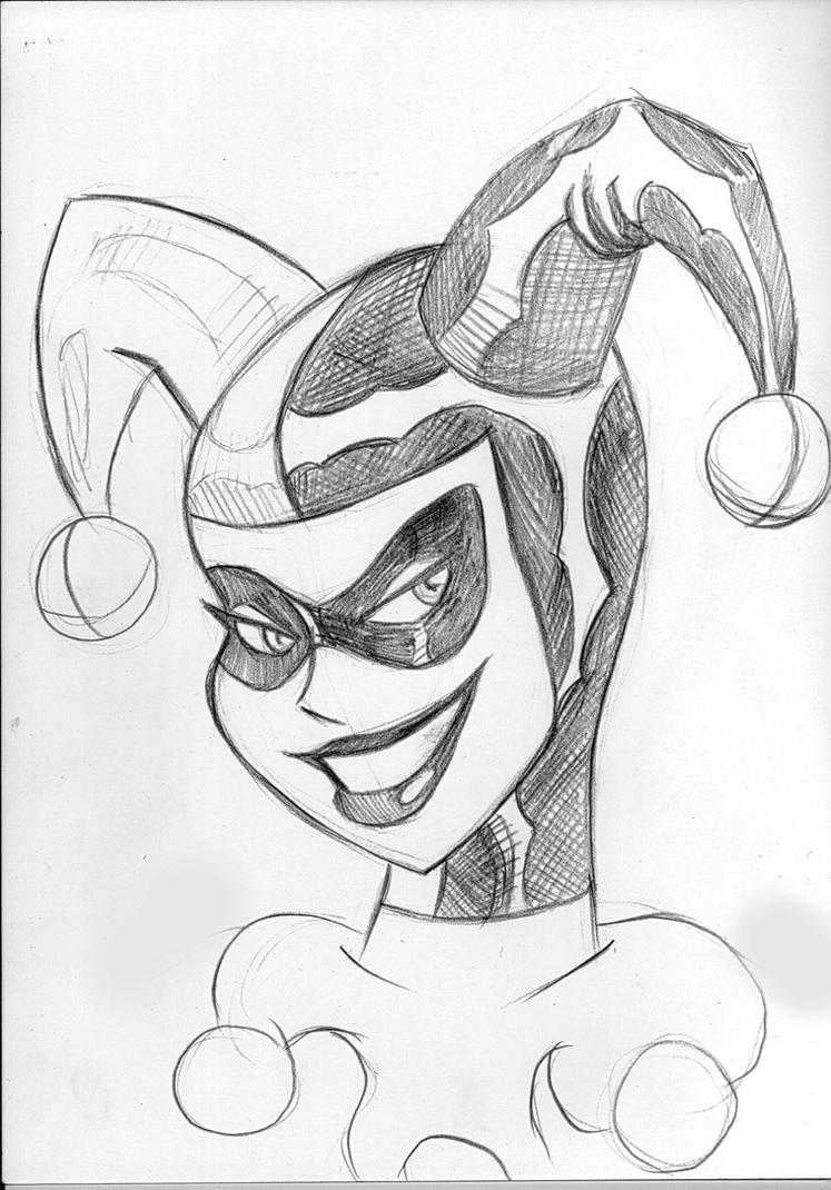 Harley Quinn Drawing: Harley Quinn Bruce Timm Style By Zarnoth On DeviantArt