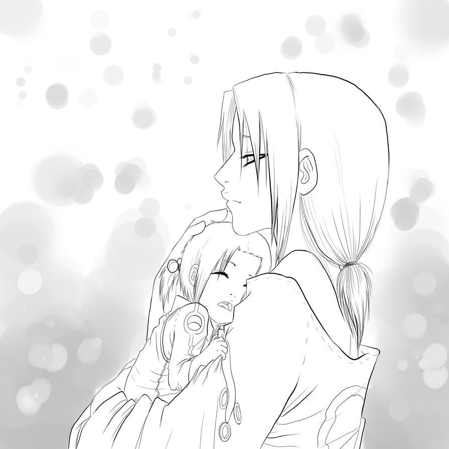 Sakura and Reiko lineart by drathe
