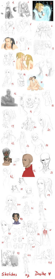 THAT'S A LOT OF SKETCHES D:
