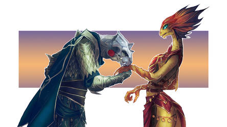 DOS2: Slane and Monifa by drathe