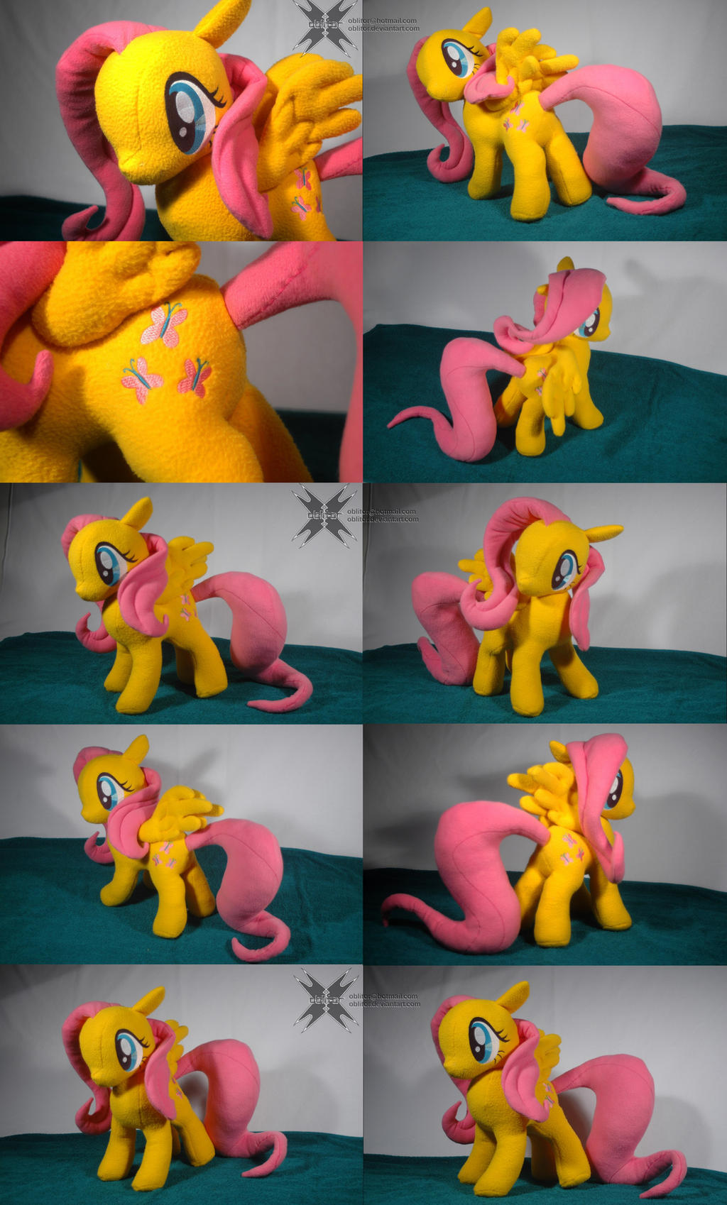 Custom Fluttershy with movable head and wings by Oblitor