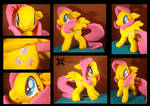 Fluttershy with movable head, ears and wings