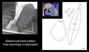 My Little Pony plushie Stallion free head pattern by Oblitor