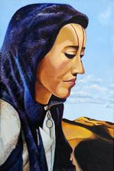 Oil on Canvas (Desert Woman) 1998 by almasude
