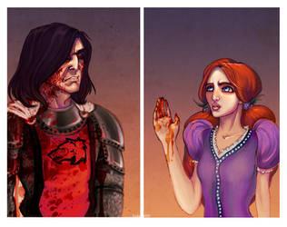 Sansa and Sandor by Enife