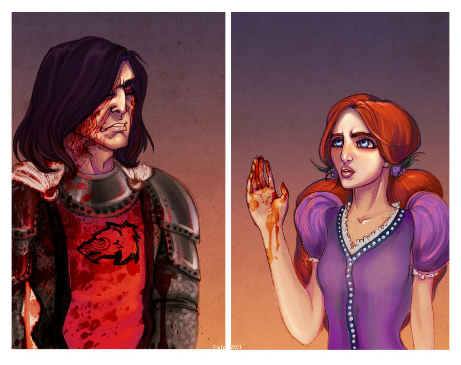 Sansa and Sandor by Enife