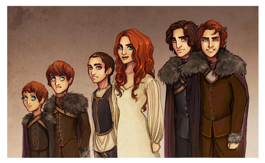 Stark children by Enife