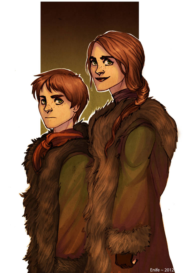 Reed siblings by Enife
