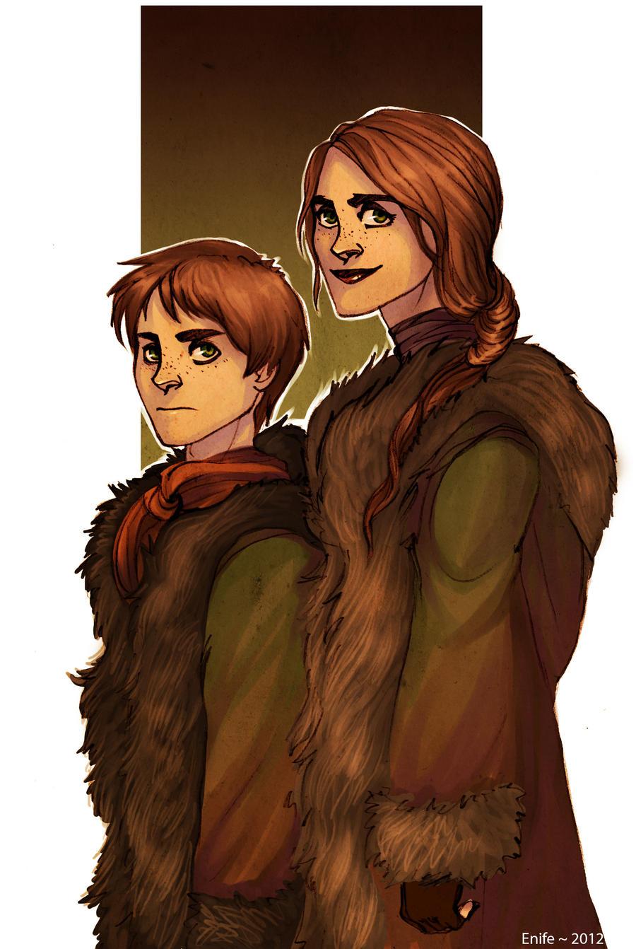 Reed siblings by Enife