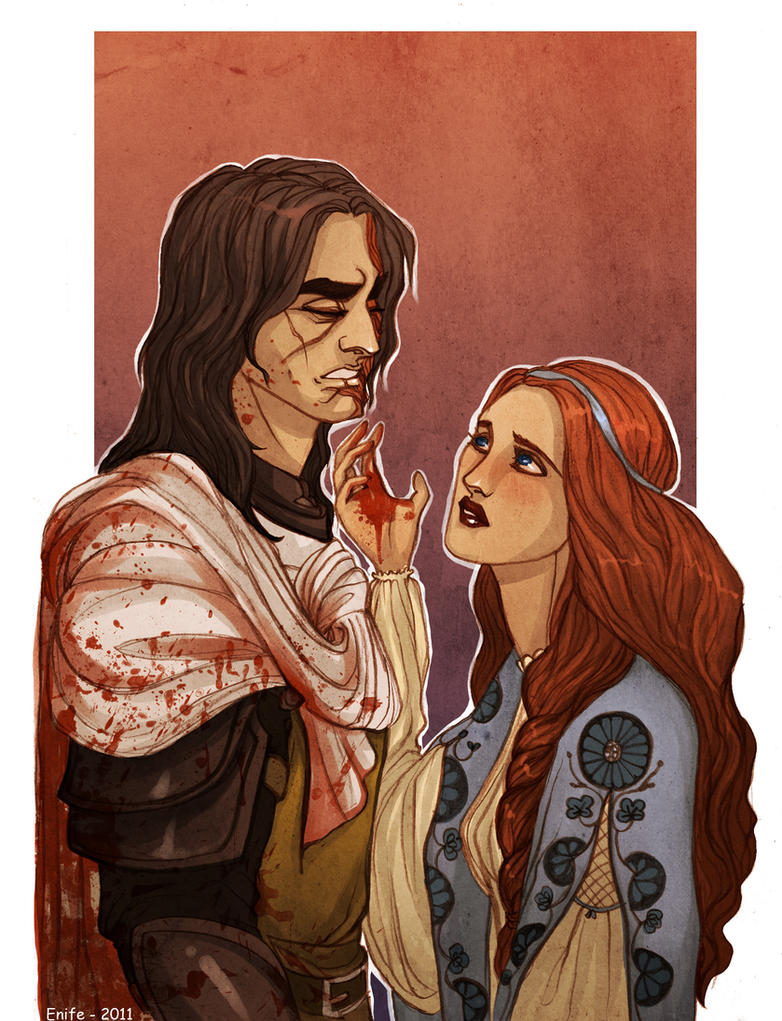 Sandor and Sansa by Enife