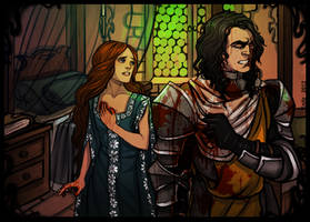 Sansa and the Hound by Enife