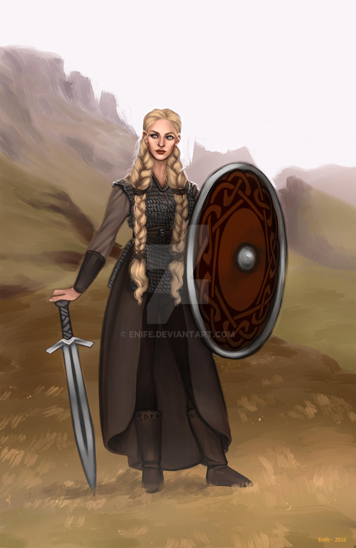 Commission: Shieldmaiden by Enife