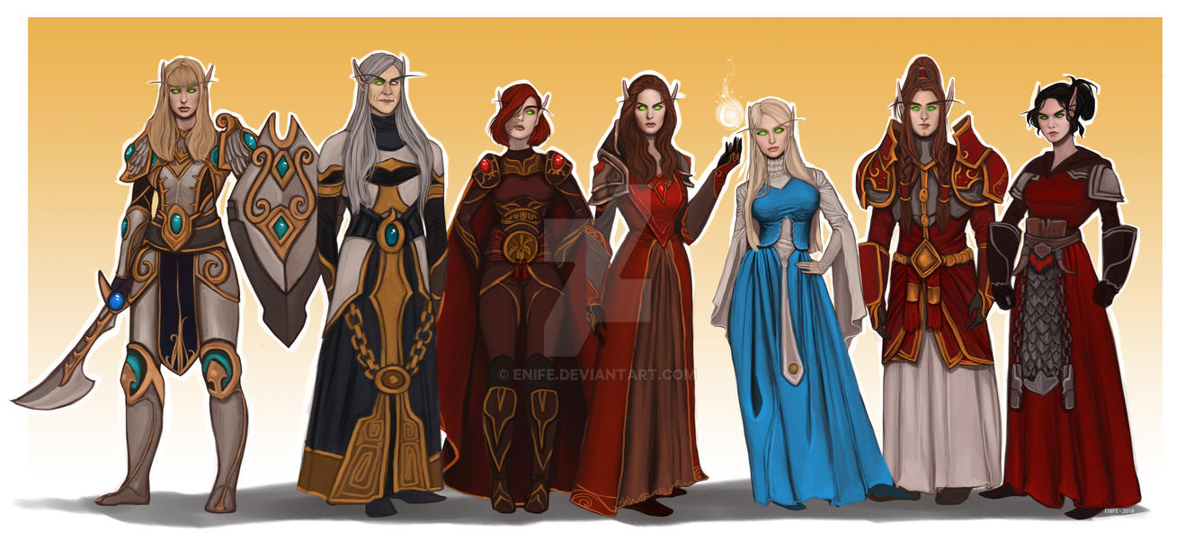 Commission: Blood elves by Enife