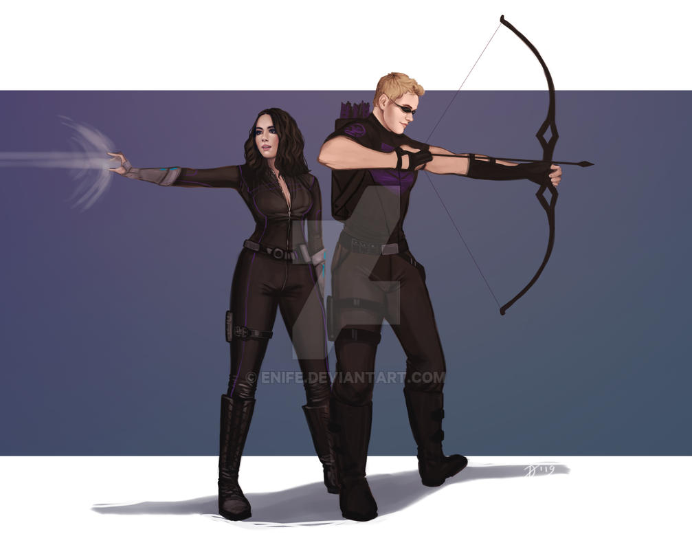 Commission: Daisy and Hawkeye by Enife