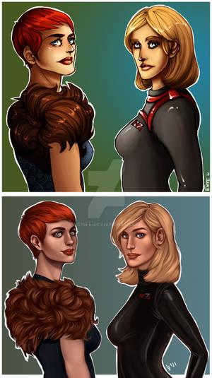 Redraw: Hawke x Shepard