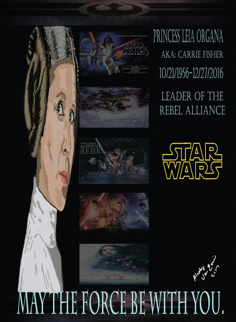 Princess Leia Tribute by BlackyVonEerie