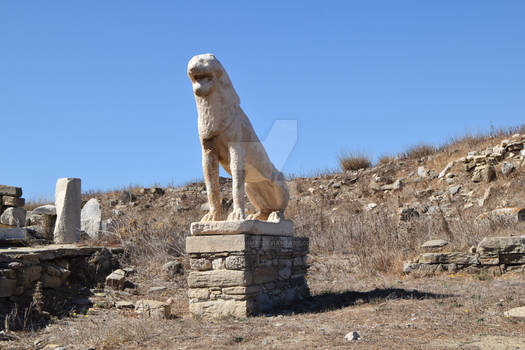 Naxian Stone Lions statues in island Delos