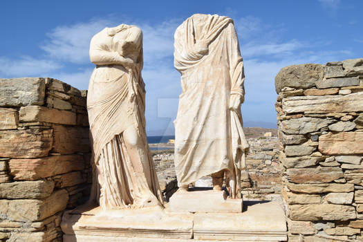 Statues at the House of Cleopatra, Delos.
