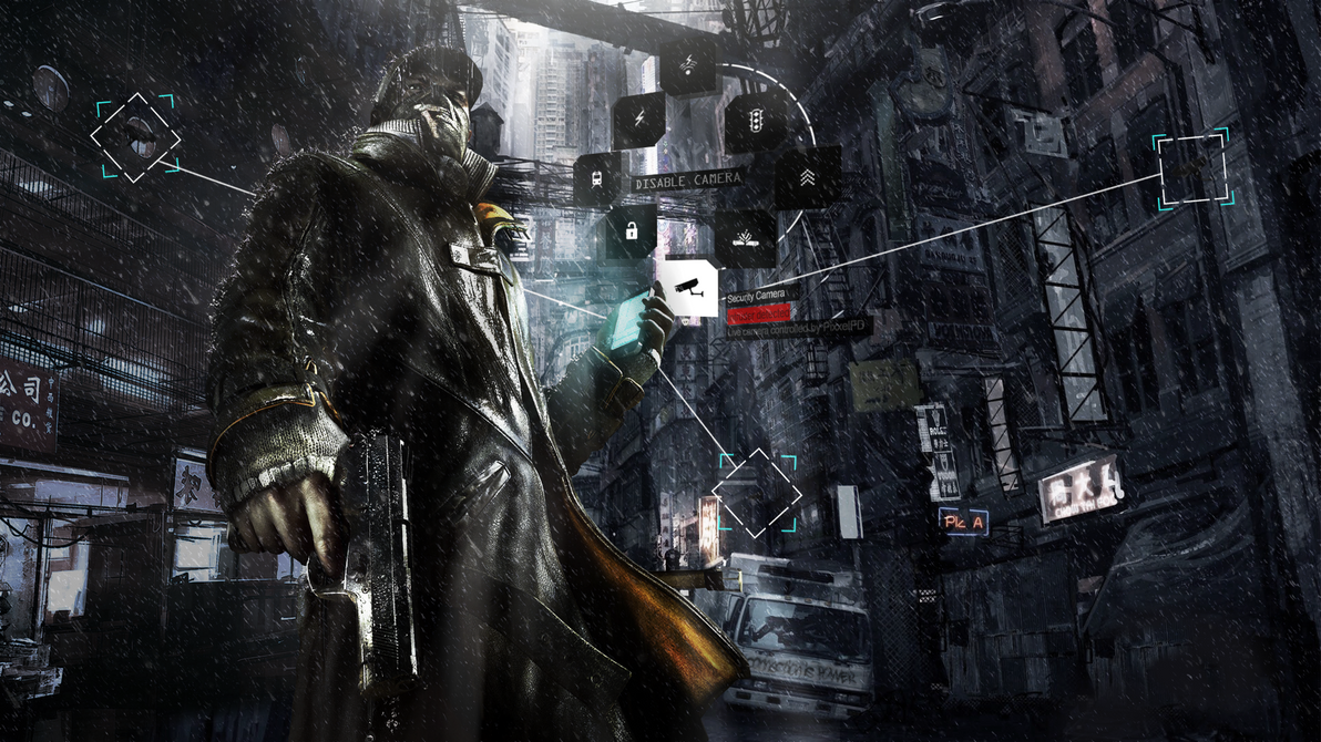 Watch Dogs Wallpaper (Main sans title version) by SpectreSinistre