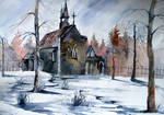 Old painting, Church