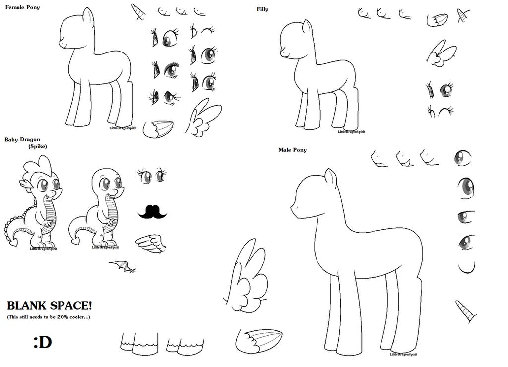 My Little Pony: FiM Base 2 by LittleDragonSpirit
