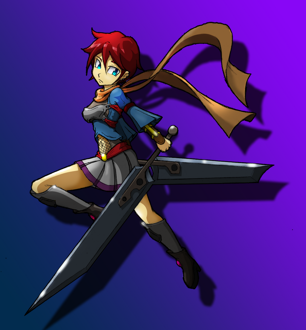 Anime Girl With Dual Swords Hasshecom