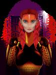 Red Elf Gatekeeper by malemex