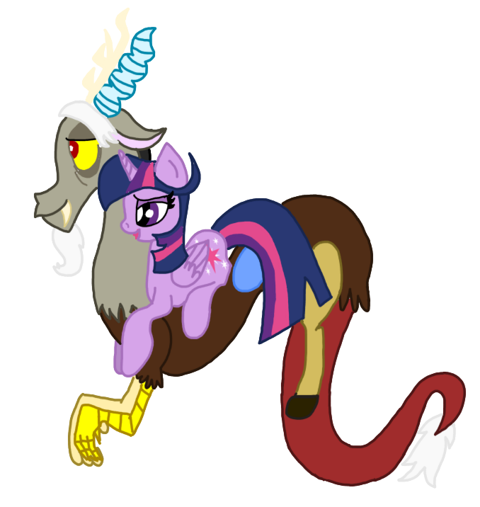 Twilight Sparkle And Discord In Love Discord and Twilight I...
