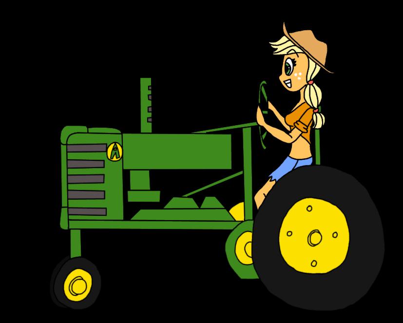 AJ Driving A John Deere Tractor by LorettaFox on DeviantArt