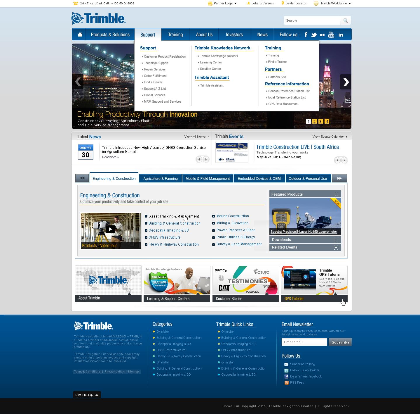 trimble website mockup design by jamnicky on DeviantArt