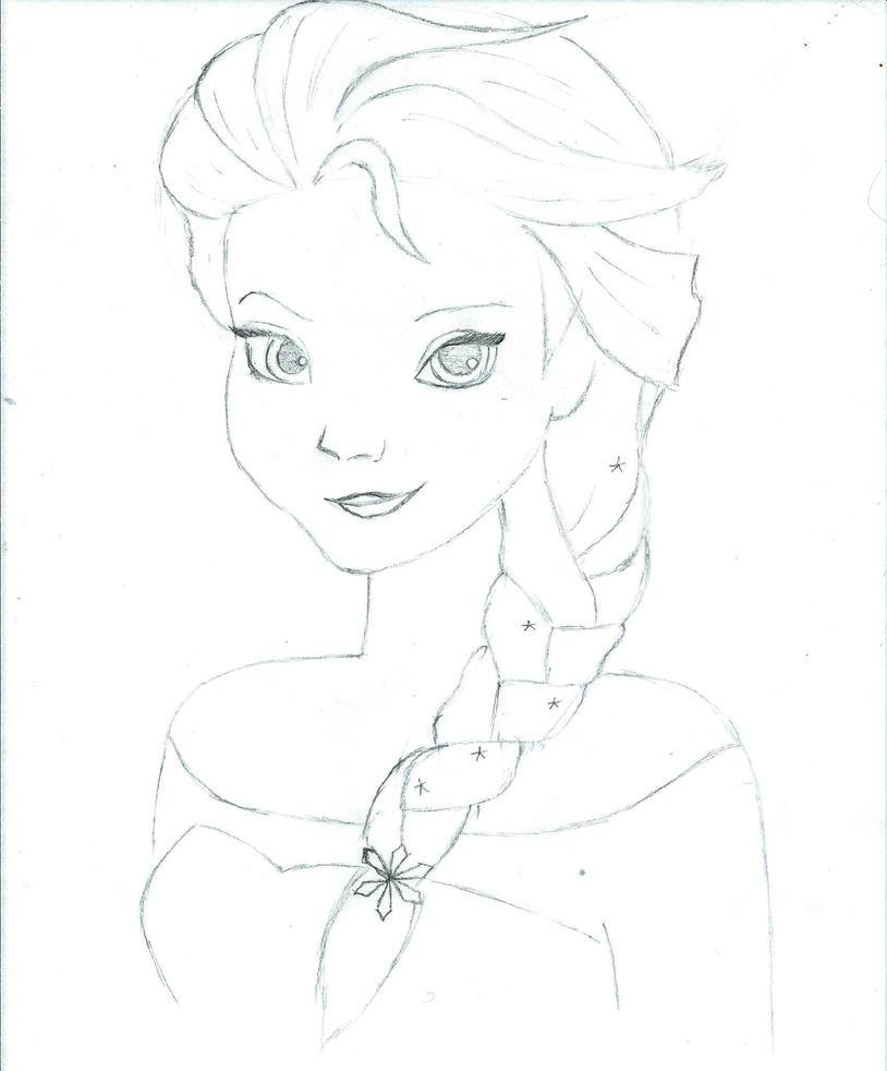 Elsa Sketch By Olivia808 On DeviantArt