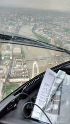 River Thames helicopter view