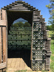 wood and bottle shed