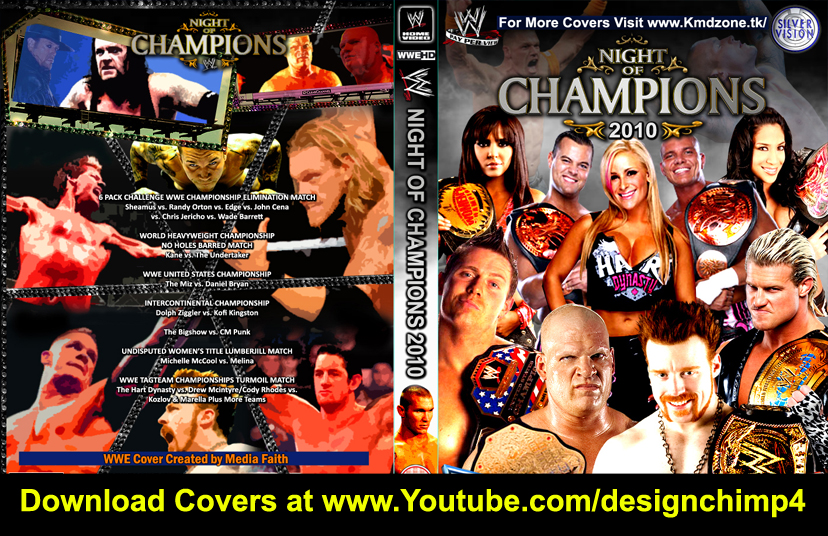 NIGHT OF CHAMPIONS 2010 CUSTOM DVD COVER by mediafaith1