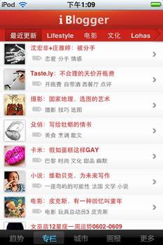 iWeekly iblogger page