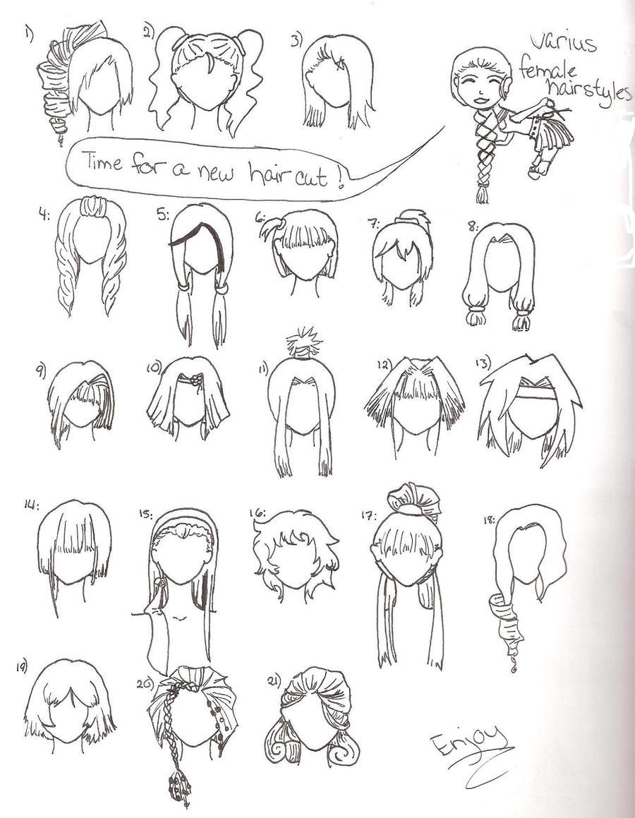 Varius Female Hairstyles By Wandereratheart On Deviantart