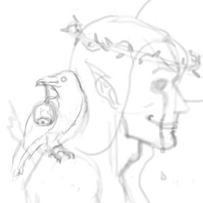 Raven sketch by MuseOfMelancholy