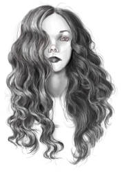 Hair drawing practice by MuseOfMelancholy